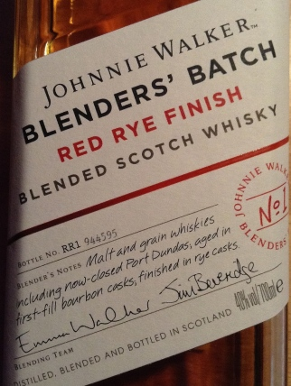 REDJohnnie Walker Red Rye Finish No1