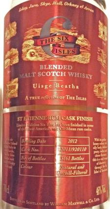 REDThe Six Isles-St Etienne Rum Cask Finish